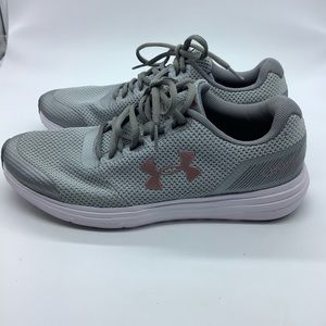 Under Armour Athletic Run Shoes Gray New Size 8.5